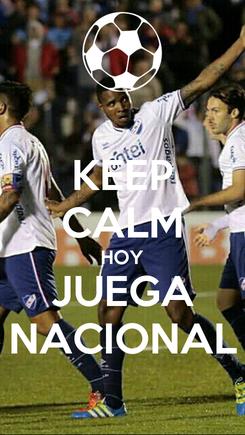 Poster: KEEP CALM HOY JUEGA NACIONAL