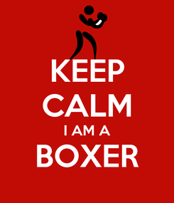 Poster: KEEP CALM I AM A BOXER