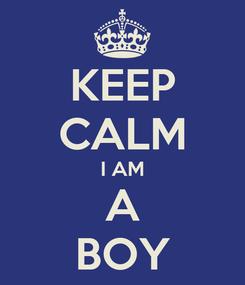 Poster: KEEP CALM  I AM  A BOY