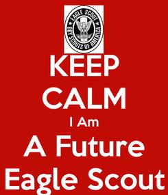 Poster: KEEP CALM I Am A Future Eagle Scout