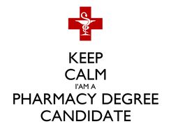 Poster: KEEP CALM I'AM A PHARMACY DEGREE CANDIDATE