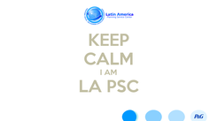 Poster: KEEP CALM I AM LA PSC