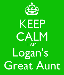 Poster: KEEP CALM I AM Logan's  Great Aunt