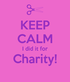 Poster: KEEP CALM I did it for Charity!