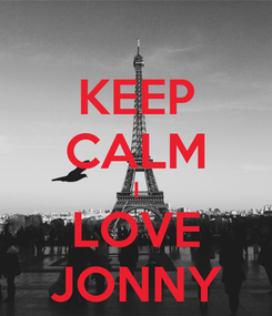 Poster: KEEP CALM I LOVE JONNY