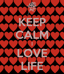 Poster: KEEP CALM I LOVE LIFE