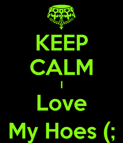 Poster: KEEP CALM I Love My Hoes (;