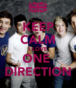 Poster: KEEP CALM I LOVE ONE  DIRECTION