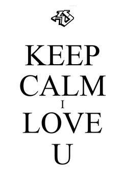 Poster: KEEP CALM I LOVE U