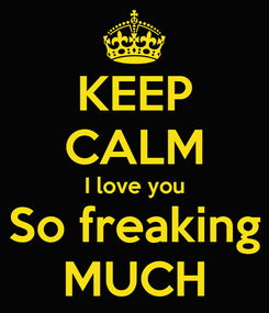 Poster: KEEP CALM I love you So freaking MUCH