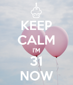 Poster: KEEP CALM I'M 31 NOW