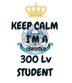 Poster: KEEP CALM   I'M A  CERTIFIED  300 Lv STUDENT