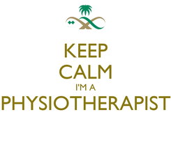 Poster: KEEP CALM I'M A PHYSIOTHERAPIST