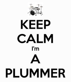 Poster: KEEP CALM I'm A PLUMMER
