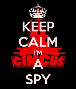 Poster: KEEP CALM I'M A SPY