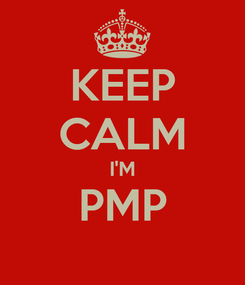 Poster: KEEP CALM I'M PMP