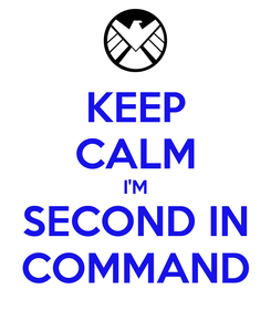 Poster: KEEP CALM I'M SECOND IN COMMAND