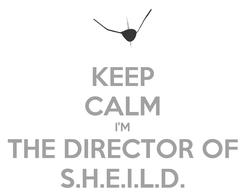 Poster: KEEP CALM I'M THE DIRECTOR OF S.H.E.I.L.D.