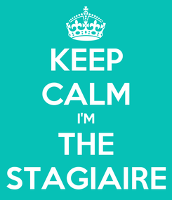 Poster: KEEP CALM I'M THE STAGIAIRE