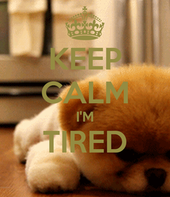 Poster: KEEP CALM I'M TIRED