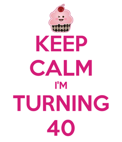 Poster: KEEP CALM I'M TURNING 40