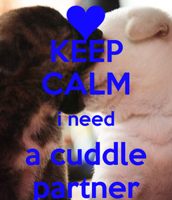 Poster: KEEP CALM i need a cuddle partner