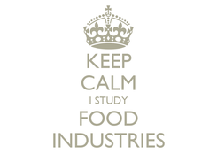 Poster: KEEP CALM I STUDY FOOD INDUSTRIES