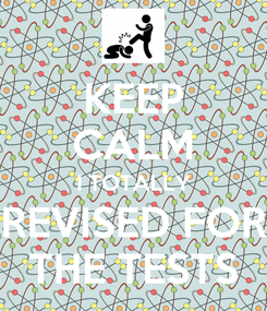 Poster: KEEP CALM I TOTALLY REVISED FOR THE TESTS