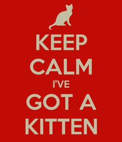 Poster: KEEP CALM I'VE GOT A KITTEN