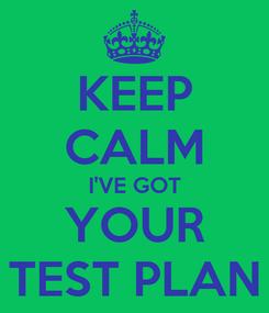 Poster: KEEP CALM I'VE GOT YOUR TEST PLAN