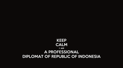 Poster: KEEP CALM I`AM A PROFESSIONAL DIPLOMAT OF REPUBLIC OF INDONESIA