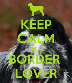 Poster: KEEP CALM I'M A BORDER  LOVER