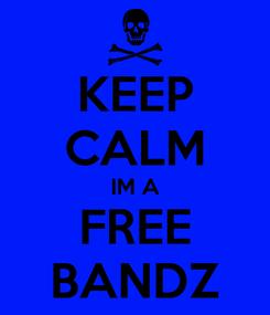 Poster: KEEP CALM IM A FREE BANDZ