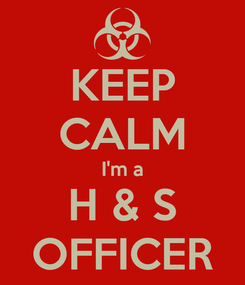 Poster: KEEP CALM I'm a H & S OFFICER
