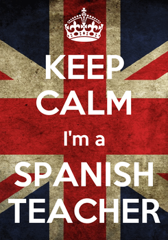 Poster: KEEP CALM I'm a SPANISH TEACHER