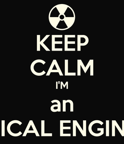 Poster: KEEP CALM I'M an ELECTRICAL ENGINEERING