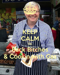 Poster: KEEP CALM I'm Back Bitches & Cookin with Gas