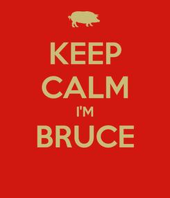 Poster: KEEP CALM I'M BRUCE
