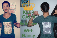 Poster: KEEP CALM Im in love With Nancy