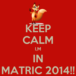 Poster: KEEP CALM I,M IN MATRIC 2014!!