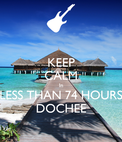 Poster: KEEP CALM In LESS THAN 74 HOURS DOCHEE