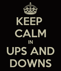 Poster: KEEP  CALM IN UPS AND DOWNS