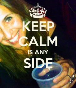 Poster: KEEP CALM IS ANY SIDE