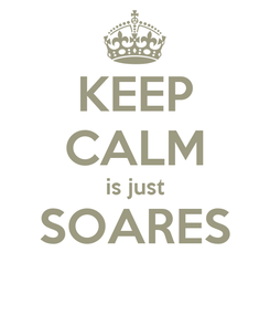 Poster: KEEP CALM is just SOARES