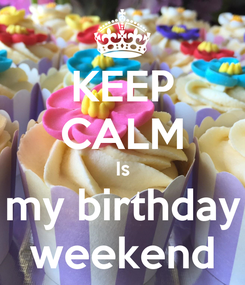 Poster: KEEP CALM Is my birthday weekend