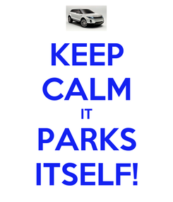 Poster: KEEP CALM IT PARKS ITSELF!