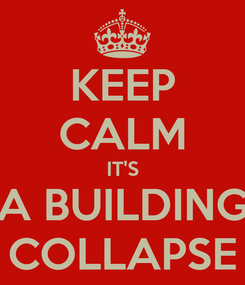 Poster: KEEP CALM IT'S A BUILDING COLLAPSE