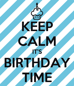 Poster: KEEP CALM IT'S BIRTHDAY TIME