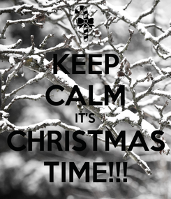 Poster: KEEP CALM IT'S CHRISTMAS TIME!!!