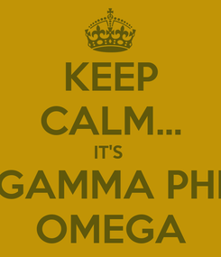 Poster: KEEP CALM... IT'S  GAMMA PHI OMEGA